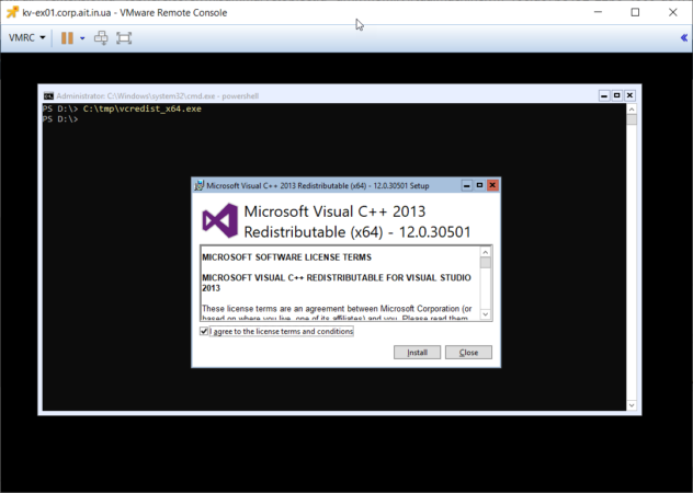 Установка Visual C++ Redistributable Packages for Visual Studio 2013