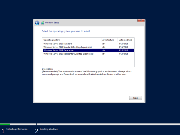 Windows Server 2019 Standard и Datacenter